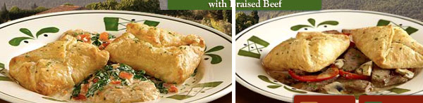Review: Olive Garden Herb Cheese Soffatelli with Braised Beef
